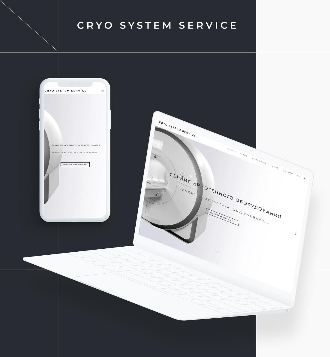 Разработка сайта компании CRYO SYSTEM SERVICE